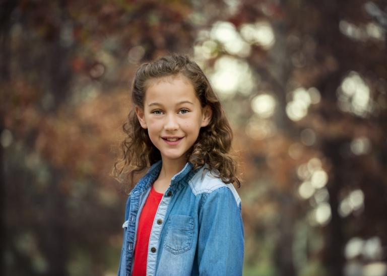 Little Girl, Portrait in Autumn, Canberra