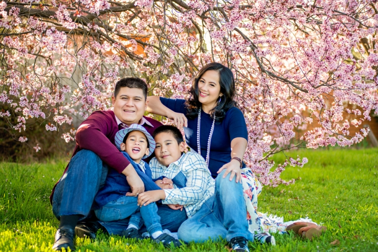 Spring Fling Family Portrait - Ayu Srimoyo Photography Canberra