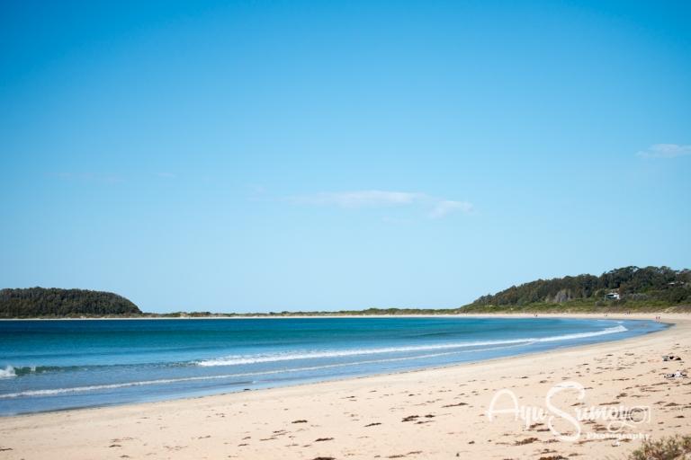 broulee beach, nsw, south coast beaches, australia, winter