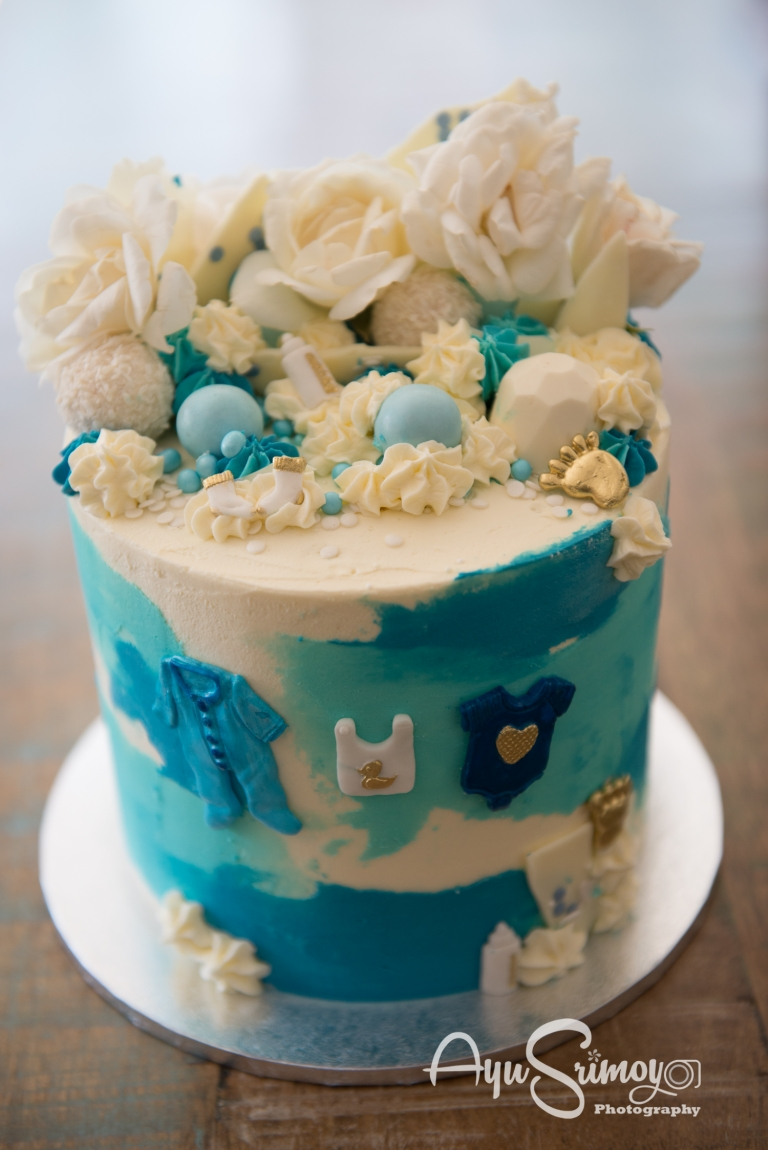 baby boy baby shower cake by sweet zee creation, canberra