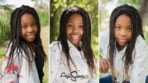 Teen girl portrait in natural light
